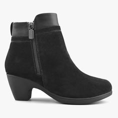 Women's Ankle Boots Office in Suede Leather Black – Comfy Moda Office Outfits Women, Black Office, Shoe Box, Looking For Women, Winter Boots, Suede Leather, Ankle Boots, Comfy, Clothes For Women