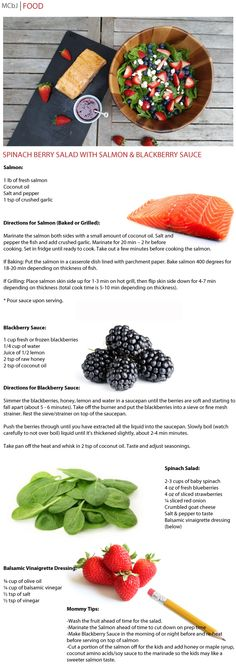 Mommy Chic by Jessica - Grilled Salmon Berry Salad