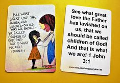 Scripture doodle Card of Encouragement/1 John 3 1/Children of God Doodle Art/Children of God Magnet/Children of God Bookmark/Scripture Art