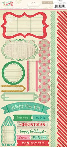 American Crafts - Crate Paper - Bundled Up Collection - Christmas - Cardstock Stickers - Borders and Accents at Scrapbook.com