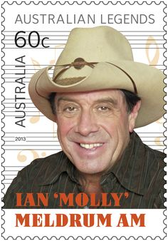 The Australian Music Legend #mollymeldrum. Champion of Aussie musicians #legends #stamps