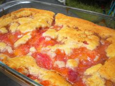 I saw Paula make this on the Food Network and I had to save this recipe for when peach season comes around. Serve with your choice of whipped cream or vanilla ice cream. This looked fabulous!