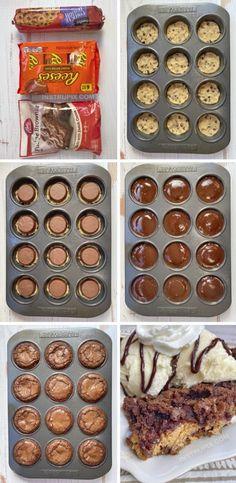 Easy Chocolate Desserts, Köstliche Desserts, Best Dessert Recipes, Sweet Recipes, Delicious Chocolate, Chocolate Lava, Chocolate Muffins, Homemade Desserts, Health Desserts