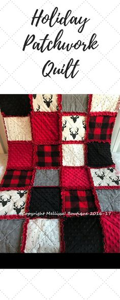 Baby Rag Quilt that will be the perfect addition to your nursery, children's bedding, throw/lap quilt, or even a travel quilt/blanket! #quilt #ad #nursery #blanket #holiday #christmas