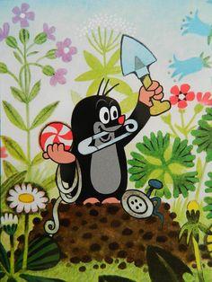 Le petit Taupek, personnage celebre des films animés tcheques d´apres les illustrations de Zdeněk Miler.