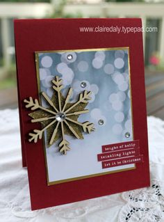 Stampin' Up! Bokeh Christmas card using Hello December Project Life products by Claire Daly Stampin' Up! Demonstrator Melbourne Australia