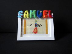 Marco de fotos con nombre en fieltro: Samuel by ChikiPol