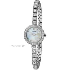 Accurist is an incredibly interesting Ladies watch . Case material is Stainless Steel while the dial colour is Mother of pearl. The watch is shipped with an original box and a guarantee from the manufacturer. Bracelet Watch, Pearls, Watches, Lady, Bracelets, Accessories, Wrist Watches, Bangles, Wristwatches