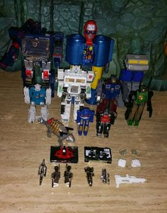 G1 Transformers & Gobots LOT some KO some parts repair action figures Soundwave in Toys & Hobbies, Action Figures, Transformers & Robots   eBay