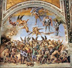 Luca Signorelli - The Damned (1499-1502) - Fresco, width 700 cm, Chapel of San Brizio, Duomo, Orvieto