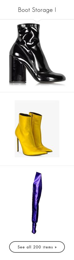 """""""Boot Storage I"""" by fdesbml ❤ liked on Polyvore featuring shoes, boots, footwear, ankle boot, heels, zipper ankle boots, ankle boots, black heeled boots, short boots and vintage ankle boots"""