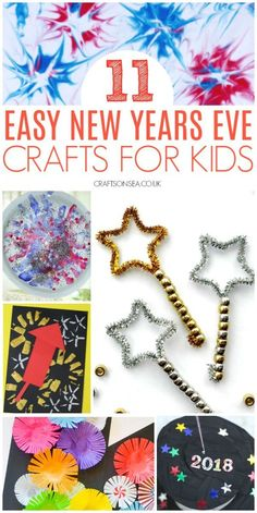 Easy New Years Eve crafts for kids These New Years Eve crafts for toddlers are easy to make but look fantastic! Simple activities that they'll love and so will you. Arts And Crafts For Adults, Easy Arts And Crafts, Arts And Crafts Projects, Crafts For Kids, Diy Crafts, New Year's Eve Crafts, Holiday Crafts, Toddler Crafts, Preschool Crafts