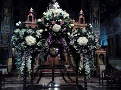 Epitaphios in Saint George in Kozani, Greece Church Decorations, Floral Decorations, Crucifixion Of Jesus, Church Flowers, Orthodox Christianity, Holy Week, Saint George, Church Ideas, Lent