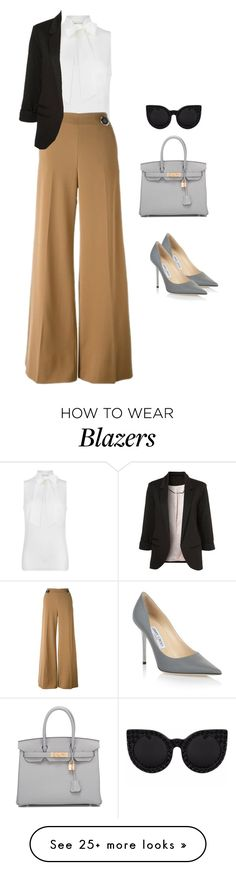 """""""//business as usual\\"""" by edenerickson on Polyvore featuring MICHAEL Michael Kors, STELLA McCARTNEY, Jimmy Choo and Hermès"""