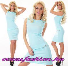 cd0c526b18 Elegán türkiz ujjatlan női ruha - Venus fashion női ruha webáruház