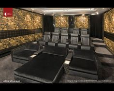 This Theater features CINEAK's Fortuny & Cosymo Home Theater Luxury Seats.  Theater Design & Image courtesy of: MITRA Theaters