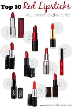 A red lip is a classic must have. Here's a list of the top 10 best reds, and which red is best for your skin tone.