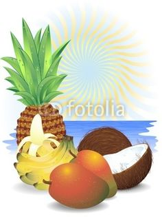 Exotic Fresh Fruit-Vector © bluedarkat