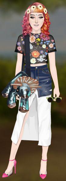 CuteRockybalboa ~Fashion~ #Stardoll #outfit #flowers&dinosaurs