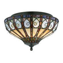 View the Quoizel TFAV1714 Stained Glass / Tiffany Flushmount Ceiling Fixture from the Ava Collection at LightingDirect.com.