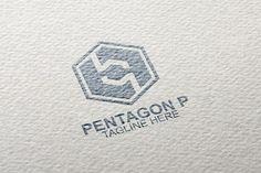 Hexagonal P Letter Box Logo Pentagon Logo, Print Design, Logo Design, Family Logo, Premium Logo, Box Logo, Vector Format, School Design, Logo Templates