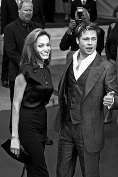 Brad Pitt with Angelina Jolie, 2007