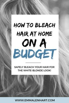 Find out how to bleach hair at home! DIY bleach blonde hair. How to tone hair for blondes at home and fix brassy tones. Grey Hair Dye, Dyed Blonde Hair, Silver Blonde Hair, Blonde Hair Without Bleach, Toning Blonde Hair, Ombre Hair, How To Blonde Hair At Home, Dying Hair At Home, Tone Hair At Home