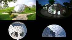 Dome Homes Biodomes - Glass and Green roof earth sheltered Passive Sustainable Eco Dome Homes - The Dome House of the Future