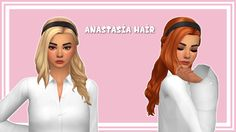 """stephanine-sims: """" Hi hi everyone! I've finally figured out to make a real frankenmesh so I was able to make this hair ❤ This hair is in honor of @nicotinc Appreciation Week! I know you are not a MM Simblr but I hope you enjoy the hair anyway! I'm..."""