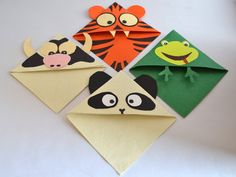 Animal Corner Bookmarks  Set of 3 Cute Bookmarks for by Qarigar