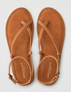 Pretty Sandals, Cute Sandals, Brown Sandals, Cute Shoes, Leather Sandals, Shoes Sandals, American Eagle Sandals, Clearance Shoes, Mens Outfitters