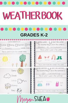 Teaching your students about weather and seasons? Check out this weather themed notebook. First Grade Activities, Teaching First Grade, First Grade Teachers, Teaching Activities, Kindergarten Teachers, Classroom Activities, Elementary Science Classroom, Primary Science, Classroom Fun