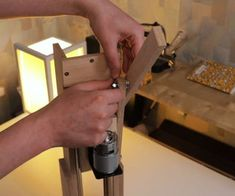 Making the Drill Press. Is It Worth It? [Build + Tests]: 17 Steps (with Pictures) Homemade Drill Press, Drill Press Stand, Speed Square, Do It Yourself Projects, Wood Screws, Wood Glue, Stick It Out, Building, How To Make