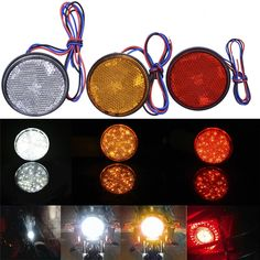 2.03$  Buy here - Red Yellow White 24 SMD Car Round Tail Lights Turn Singal Light ATV LED Reflectors Truck Side Warning Lights   #magazineonlinewebsite
