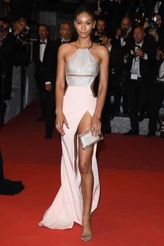 16 May Chanel Iman opted for a cut-out gown for the event. - HarpersBAZAAR.co.uk
