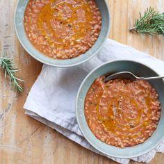 Tuscan Farro and Bean Soup (Zuppa di Farro) Recipe on Food52 recipe on Food52