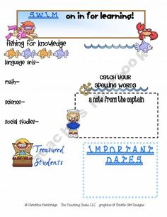 3d52b5196133629f2c7e12df9c183696 Ocean Themed Newsletter Template on microsoft word, free printable monthly, free office, classroom weekly, fun company,