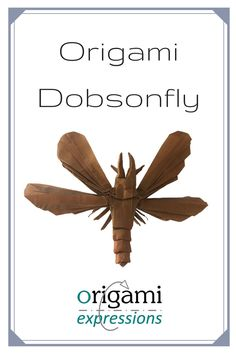 Review of Brian Chan's origami Dobsonfly design. Thoughts on folding from the crease pattern, paper choice, and link to a video tutorial via @origami_express