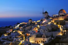 """""""Oia At Night II"""" by Haris Vithoulkas  (found on http://500px.com  -  http://www.harisphoto.com/)"""
