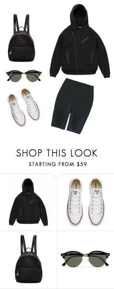 """Olympic ready #rio #black #white #cycleshorts #rein #makeitrein"" by reinlondon ❤ liked on Polyvore featuring Alexander Wang, Converse, STELLA McCARTNEY and Ray-Ban"