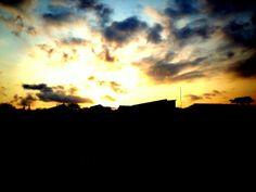 Dapet sunset yg lumayan lah...