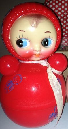 Vintage Roly Poly Musical Celluloid Toy made in by CANDYLEMON,