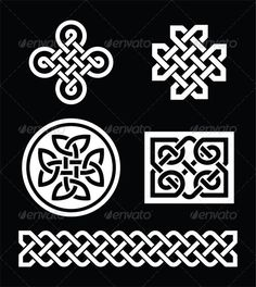 Celtic Knots — Vector EPS #on black #braid • Available here → https://graphicriver.net/item/celtic-knots/6776256?ref=pxcr
