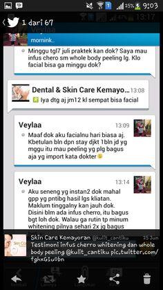 Testimonials about Infus Cherro Whitening and Whitening Pill at Skin Care Kemayoran
