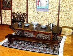 Medieval Table & Benches Refectory Dining Table by CalicoJewels, $158.00