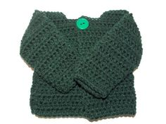 Newborn Boy 03 month Crochet Sweater in  by MrsSchafferCreations, $20.00
