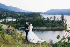 """ 'Cause honey your soul could never grow old, it's evergreen.""  #wedding #trashthedress by Tanya Bondarenko Photography   Cascade Locks, OR #PNW   http://facebook.com/tanyabondarenkophoto"