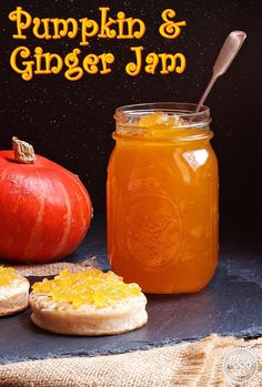 Pumpkin & Ginger Jam is a delicious way to preserve you Halloween pumpkin. With … Pumpkin & Ginger Jam is a delicious way to preserve you Halloween pumpkin. With a taste similar to marmalade this is the perfect jam to have at breakfast time! Jelly Recipes, Dessert Recipes, Desserts, Fun Recipes, Rhubarb Ginger Jam, Pumpkin Jam, Pumpkin Jelly, Canning Pumpkin Puree, Pumpkin Uses