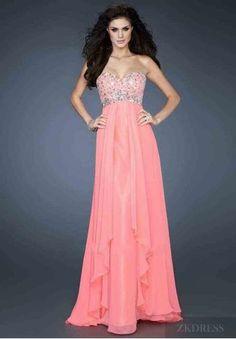 Fashion Long A-Line No Waist/Princess Seams Sleeveless Pink Prom Dresses