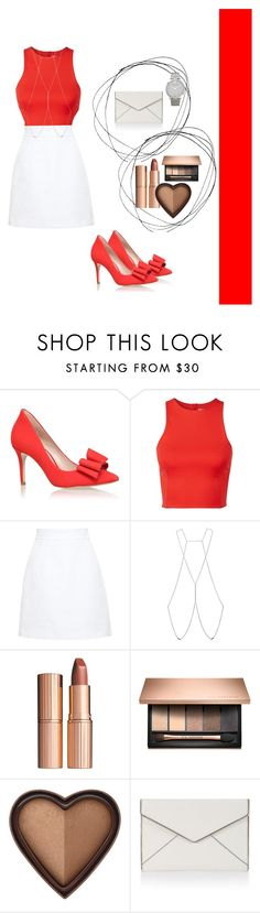 """Untitled #285"" by vykabackhand ❤ liked on Polyvore featuring KG Kurt Geiger, T By Alexander Wang, Dolce&Gabbana, Bliss Lau, Charlotte Tilbury, Rebecca Minkoff and Larsson & Jennings"